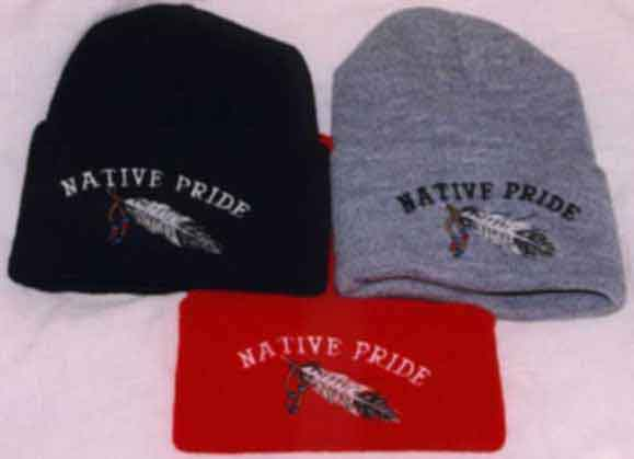 Eagle Feather Knit Cap